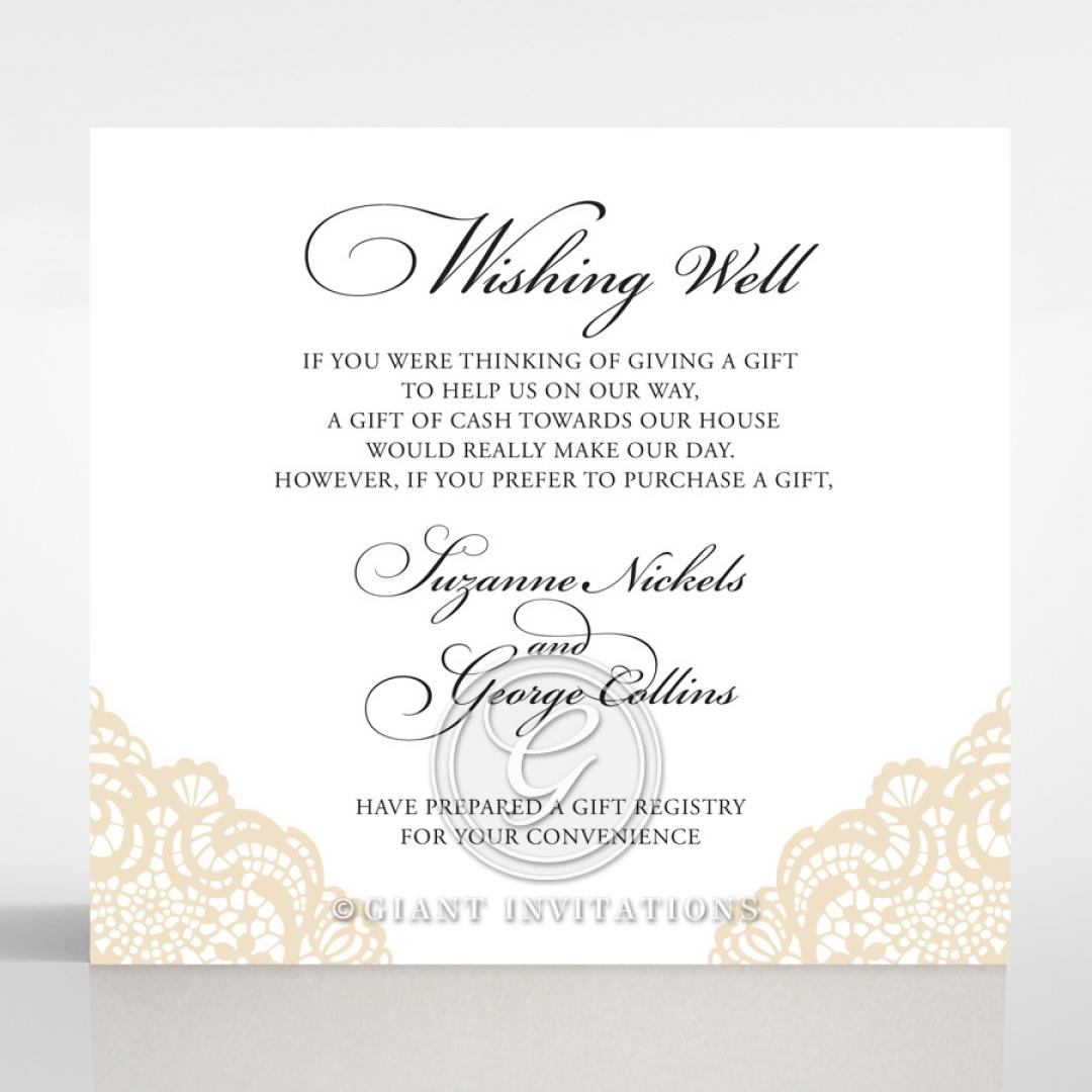 Vintage Prestige wedding stationery wishing well card design