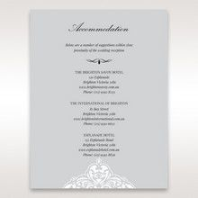 Silver/Gray Jeweled Romance Laser Cut - Accommodation - Wedding Stationery - 80