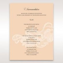 Beige White Laser Cut Wrap with Ribbon - Accommodation - Wedding Stationery - 18
