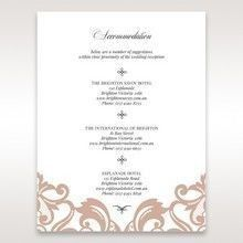 White Elegant Laser Cut Half Pocket with a Bow - Accommodation - Wedding Stationery - 36