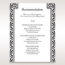 Black Dazzling Silver Foil Stamped - Accommodation - Wedding Stationery - 92