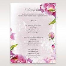 Purple Laser Cut Forest 3D Pocket - Accommodation - Wedding Stationery - 39