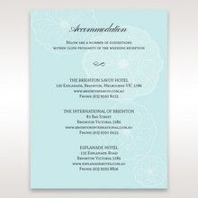 Blue   Sculpted White Flower â…  - Accommodation - Wedding Stationery - 78