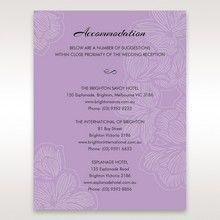 Purple  Laser Cut Flower Frame III - Accommodation - Wedding Stationery - 8