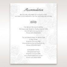 White Laser Cut Floral Lace â…¡ - Accommodation - Wedding Stationery - 12