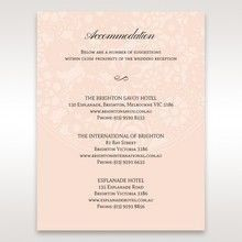 Orange Pink Light Romance - Accommodation - Wedding Stationery - 18