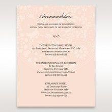 Orange Pink Light Romance - Accommodation - Wedding Stationery - 18
