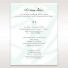 White Modern Marvel - Accommodation - Wedding Stationery - 45