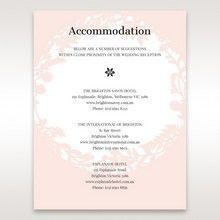 Pink Enchanted Forest I Laser Cut P - Accommodation - Wedding Stationery - 24