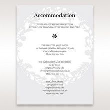 White Enchanted Forest I Laser Cut P - Accommodation - Wedding Stationery - 25