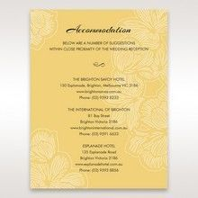 Yellow/Gold Laser Cut Flower Frame III - Accommodation - Wedding Stationery - 47