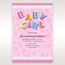 Pink Baby Girl - Birth Announcement - 70
