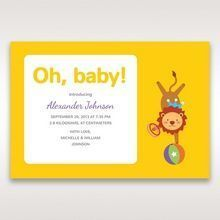 Yellow/Gold Circus Tricks - Birth Announcement - 85