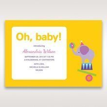 Yellow/Gold Elephantin' Around - Birth Announcement - 47