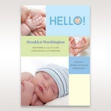 Blue Photo Trio I - Birth Announcement - 87