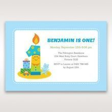 Blue Candle and Co I - 1st Birthday Invitations - 77