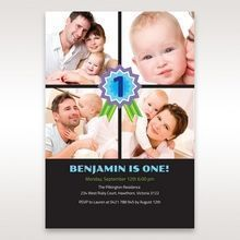 Black One Once I - 1st Birthday Invitations - 99