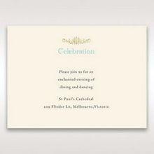 Yellow/Gold Regal Splendor - Reception Cards - Wedding Stationery - 18