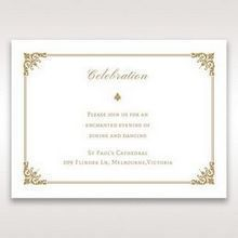 Yellow/Gold Romatic Classic - Reception Cards - Wedding Stationery - 65