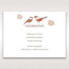 Red Love Birds - Reception Cards - Wedding Stationery - 8