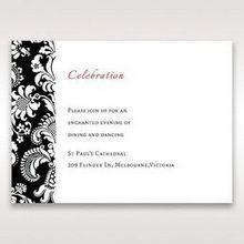 Black Majestic - Reception Cards - Wedding Stationery - 53