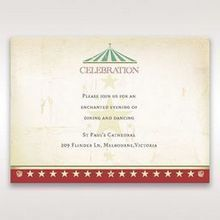 Red Big Top Celebration - Reception Cards - Wedding Stationery - 50