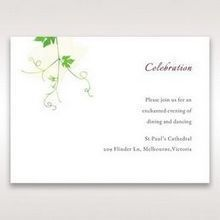 Green Natural Ivy - Reception Cards - Wedding Stationery - 27