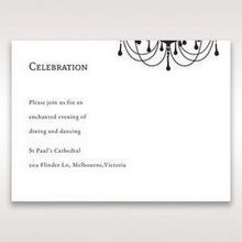 Black Black, White Chandelier - Reception Cards - Wedding Stationery - 37