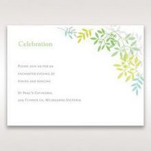 Green Natural Attraction - Reception Cards - Wedding Stationery - 74