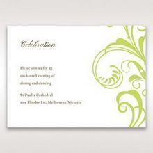 Green Sophisticataed Vintage Swirls - Reception Cards - Wedding Stationery - 4