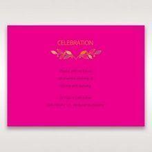 Pink Wild Floral Wreath - Reception Cards - Wedding Stationery - 68