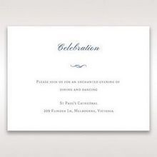 White Something Old and Blue - Reception Cards - Wedding Stationery - 35