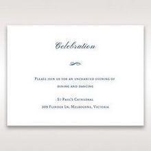 Blue Urban Chandelier - Reception Cards - Wedding Stationery - 73