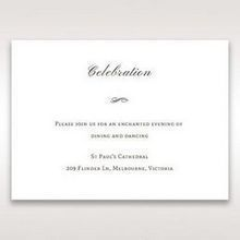 Brown Jeweled Couture in Brown - Reception Cards - Wedding Stationery - 35
