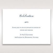 Purple Romantic Elegance, Couture - Reception Cards - Wedding Stationery - 13