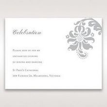 Blue Handmade Jeweled Floral - Reception Cards - Wedding Stationery - 34