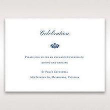 Blue Jeweled Borders - Reception Cards - Wedding Stationery - 72