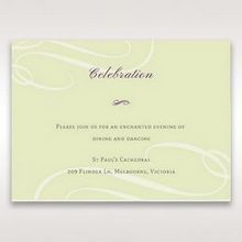 Green Butterfly in the Green Meadow - Reception Cards - Wedding Stationery - 59