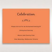 Orange Laser Peacock Laser Cut Pocket With Foil - Reception Cards - Wedding Stationery - 56