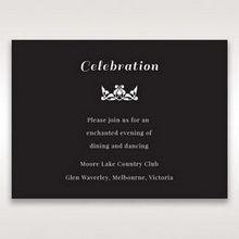 Black Vintage Rose Layered Laser Cut - Reception Cards - Wedding Stationery - 89