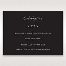 Black Laser Contempo Laser Cut Pocket - Reception Cards - Wedding Stationery - 74