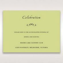 Green Laser Contempo Laser Cut Pocket - Reception Cards - Wedding Stationery - 54