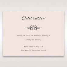 White Laser Inseparable Wrap - Reception Cards - Wedding Stationery - 64