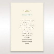 Yellow/Gold Regal Splendor - Order of Service - Wedding Stationery - 55