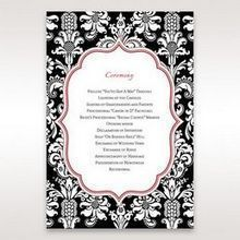 Black Majestic - Order of Service - Wedding Stationery - 73