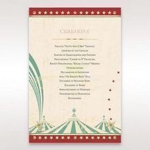 Red Big Top Celebration - Order of Service - Wedding Stationery - 76