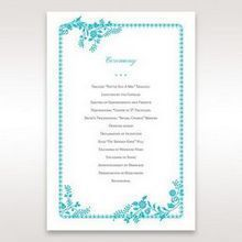 Blue Romantic Modern Floral - Order of Service - Wedding Stationery - 85