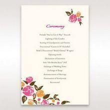 Red Flowers & Gemstones - Order of Service - Wedding Stationery - 97