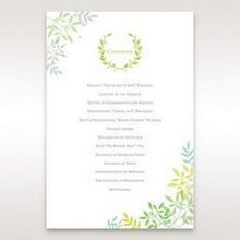Green Natural Attraction - Order of Service - Wedding Stationery - 3
