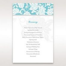Blue Vintage Floral in Blue - Order of Service - Wedding Stationery - 15